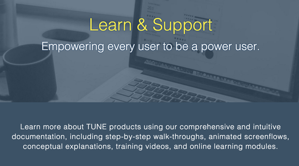 TUNE - New Support