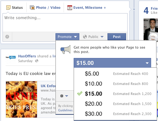 HasOffers Facebook Promoted Page Jake