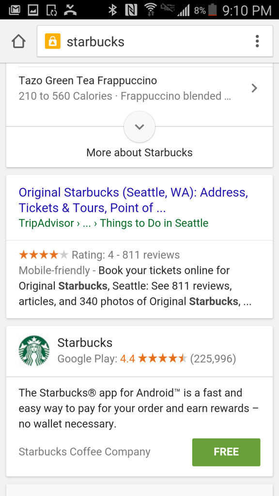starbucks search app install
