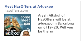 Facebook Ad for a4uexpo