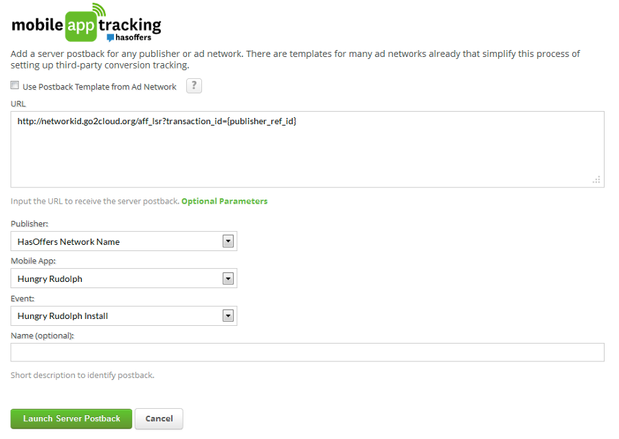 Mobile App Tracking Server Postback From