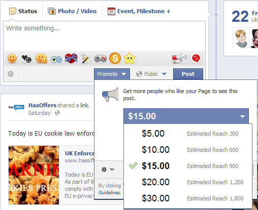 Facebook Promote Post pricing Todd